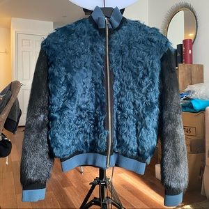 Real fur bomber. Stylish and warm. Luxury brand.
